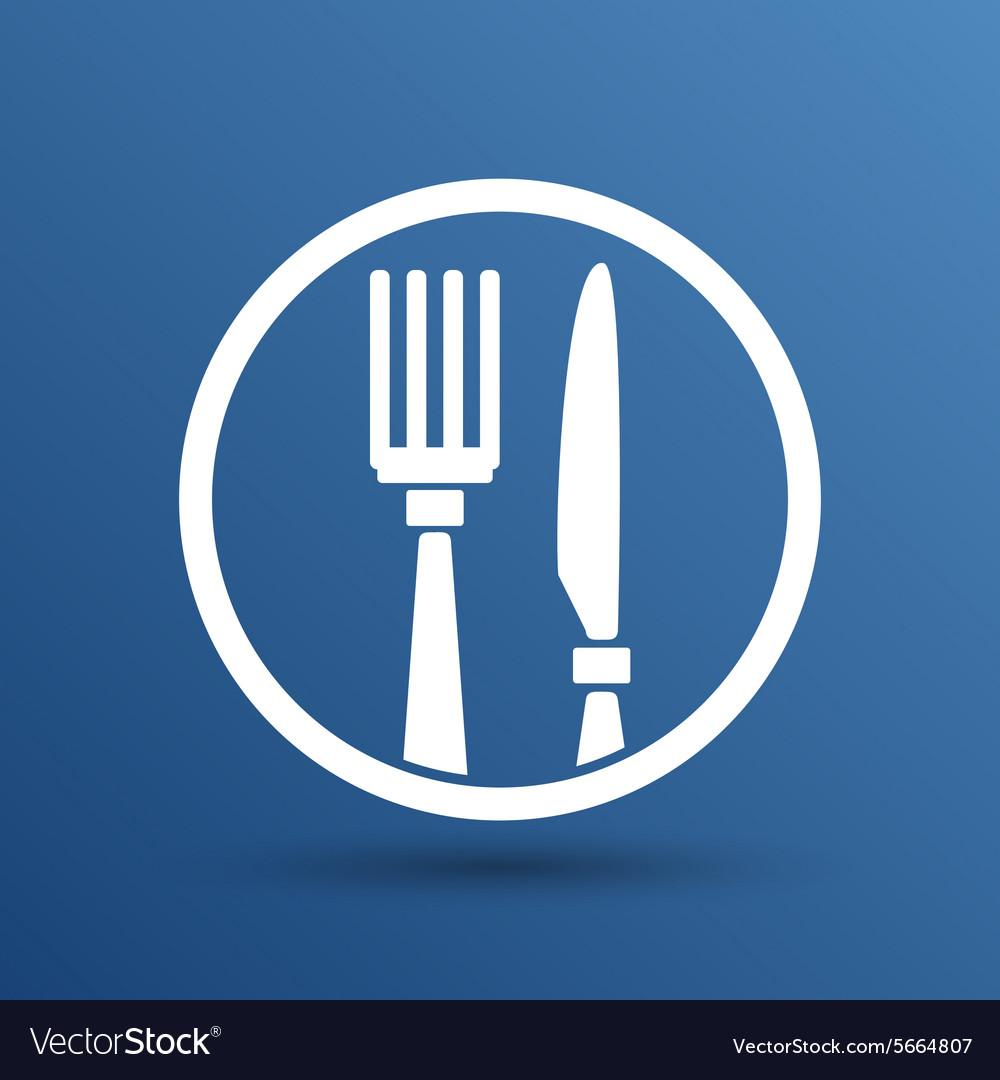 Food service logo design template cafe Royalty Free Vector
