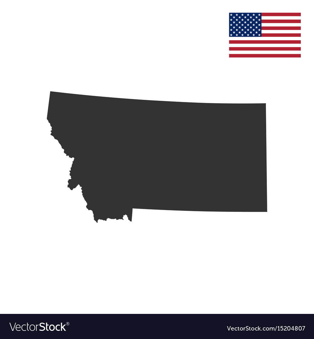 Map of the us state of montana Royalty Free Vector Image
