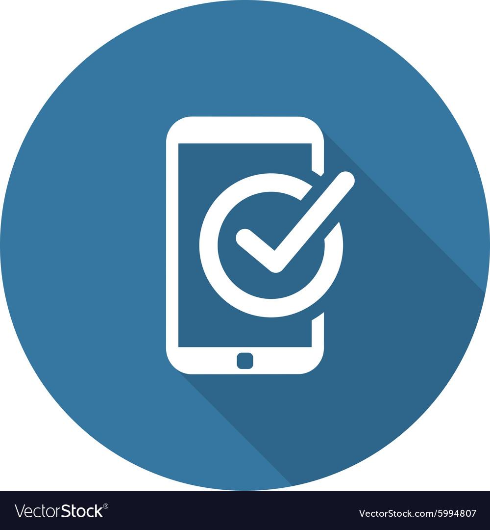 Mobile Register Icon Online Learning Flat Design