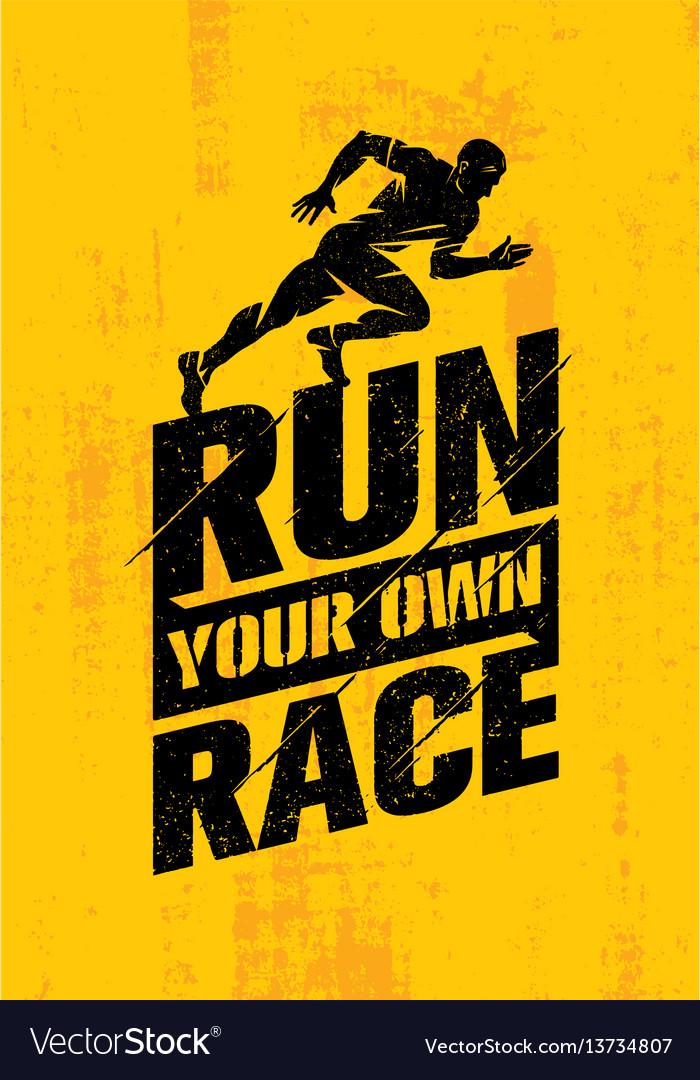Run your own race inspiring active sport creative