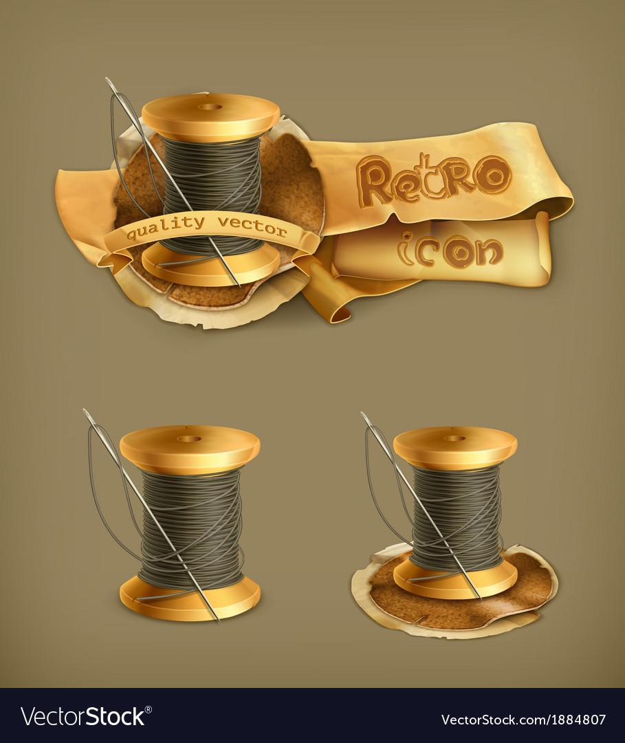 Spool of thread icon vector image