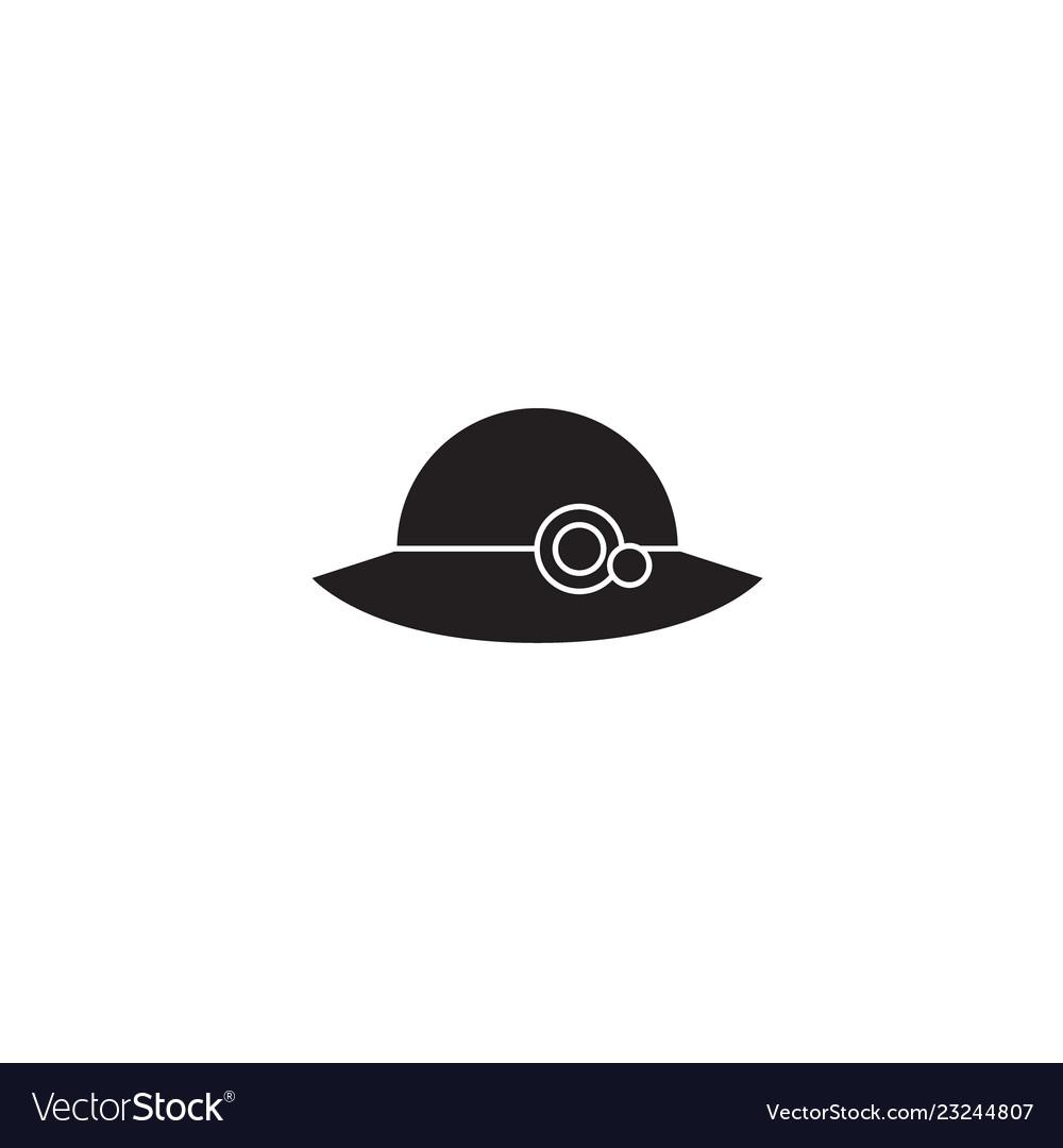 Woman hat black concept icon woman hat
