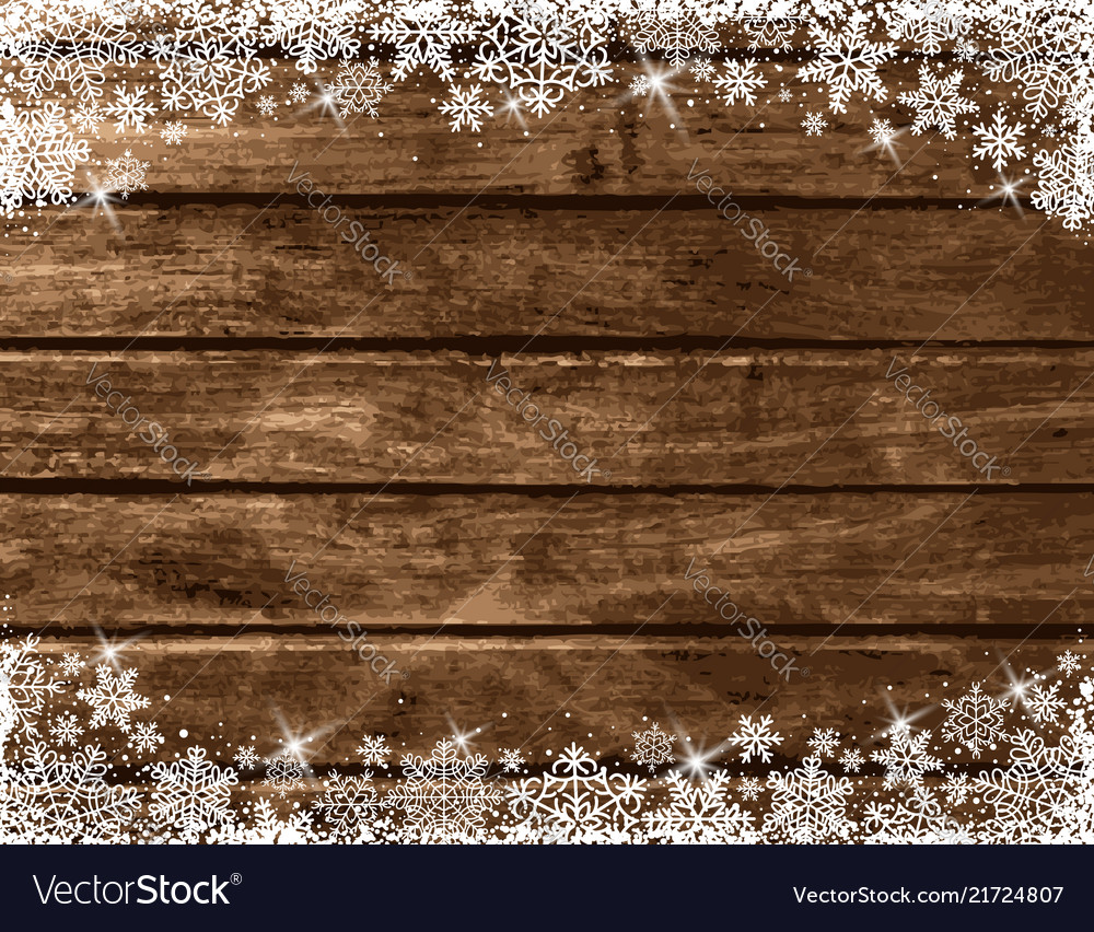 Wooden Brown Christmas Background