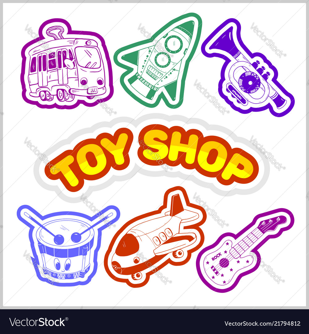 Baby toy set cute object for small children