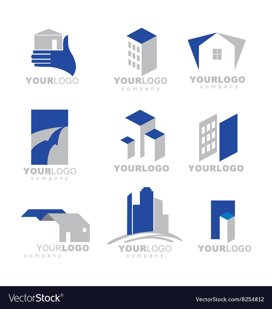 Building Apartment Logos Vector Image