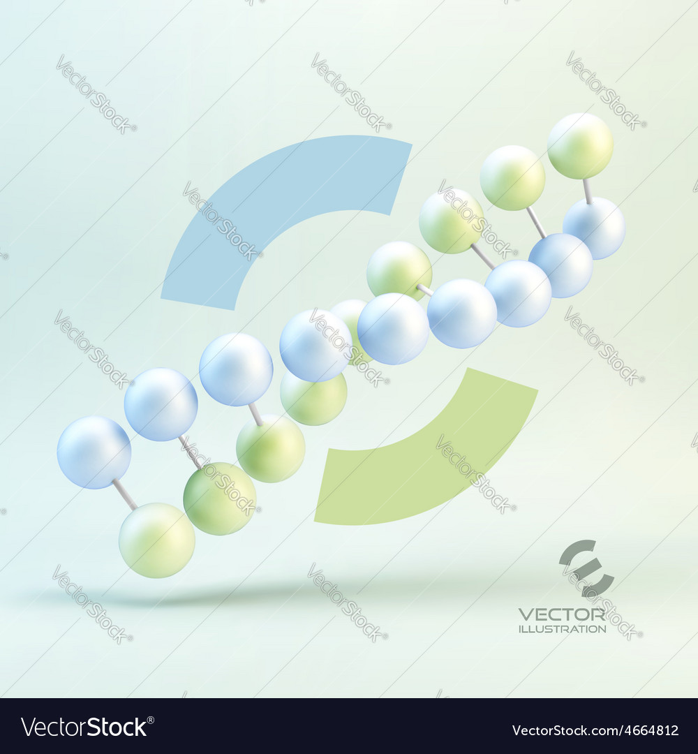 Dna structure in 3d With vector image
