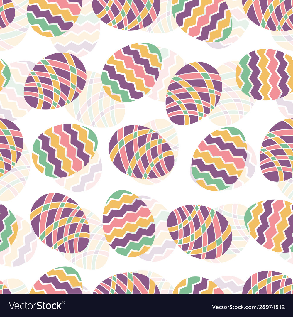 Easter egg seamless pattern spring holiday