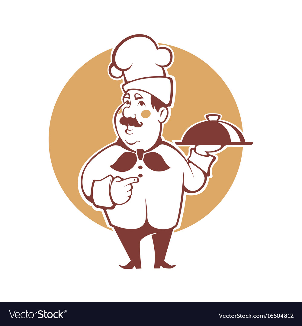 Happy cartoon chef for your logo