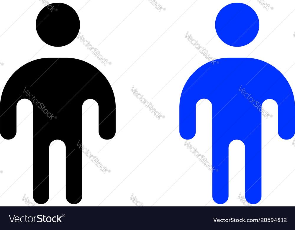 Human flat icon