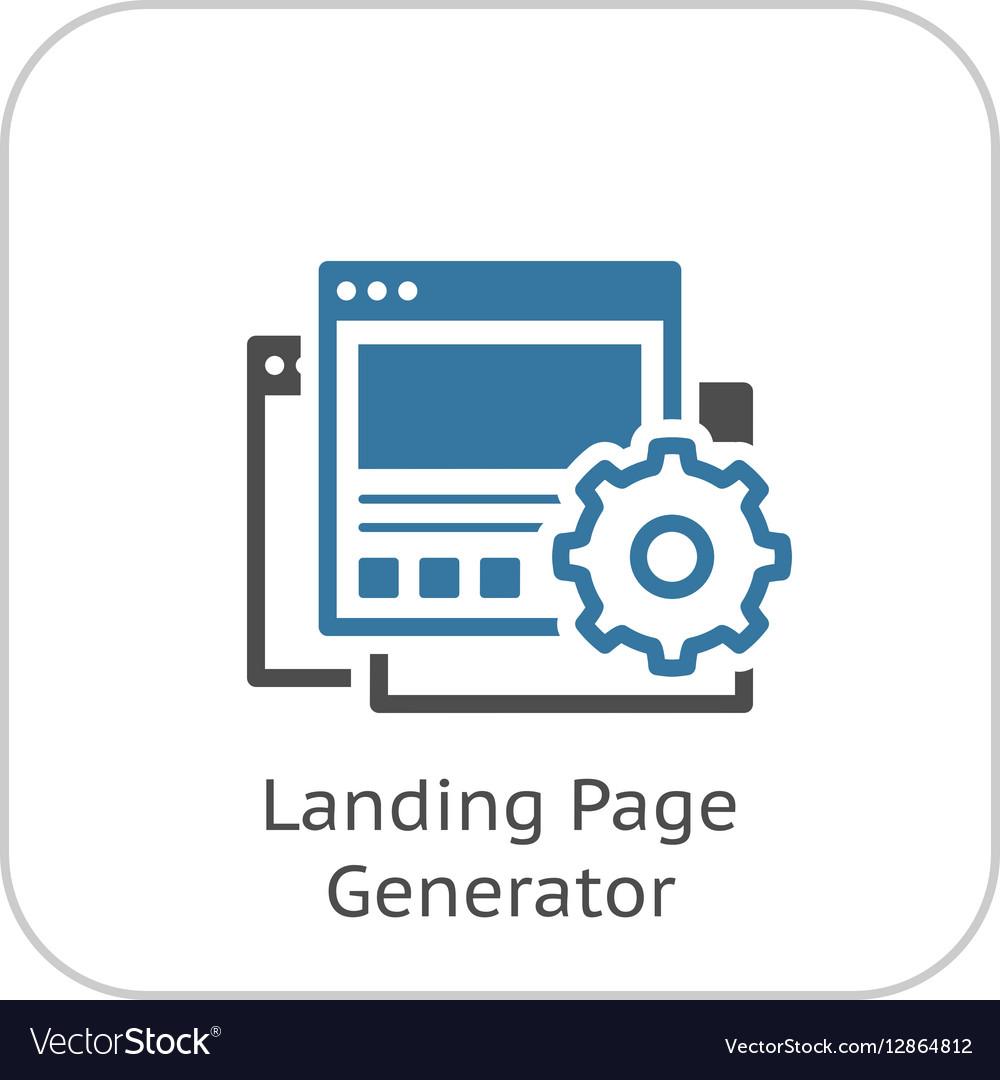 Landing Page Generator Icon Flat Design