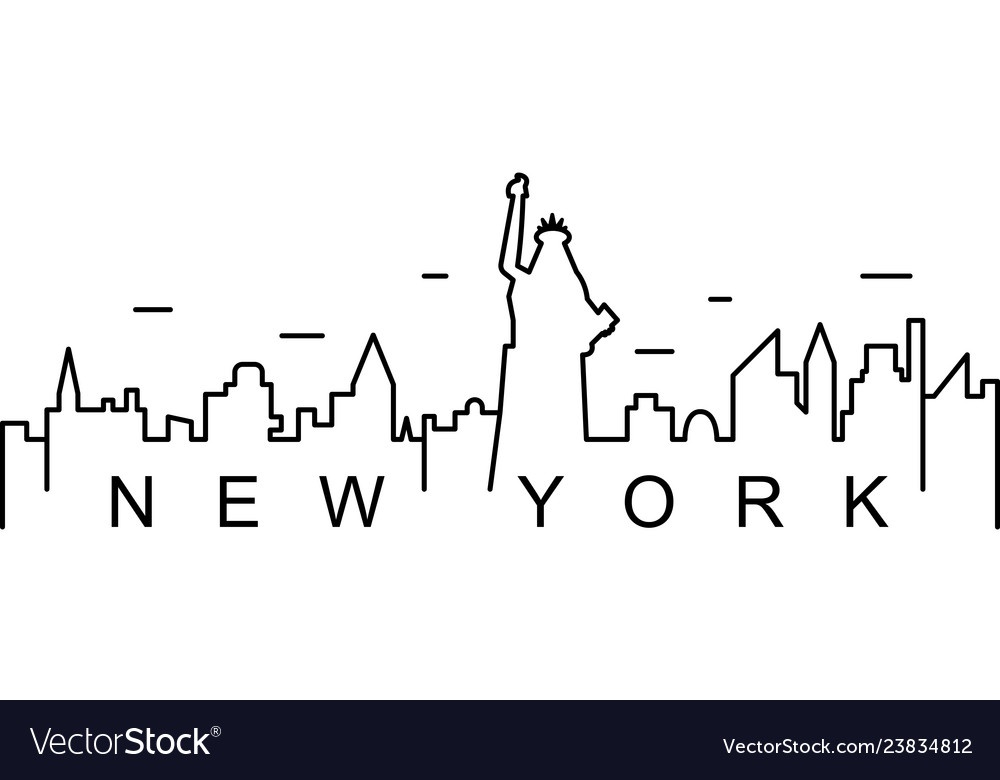 New york outline icon can be used for web logo
