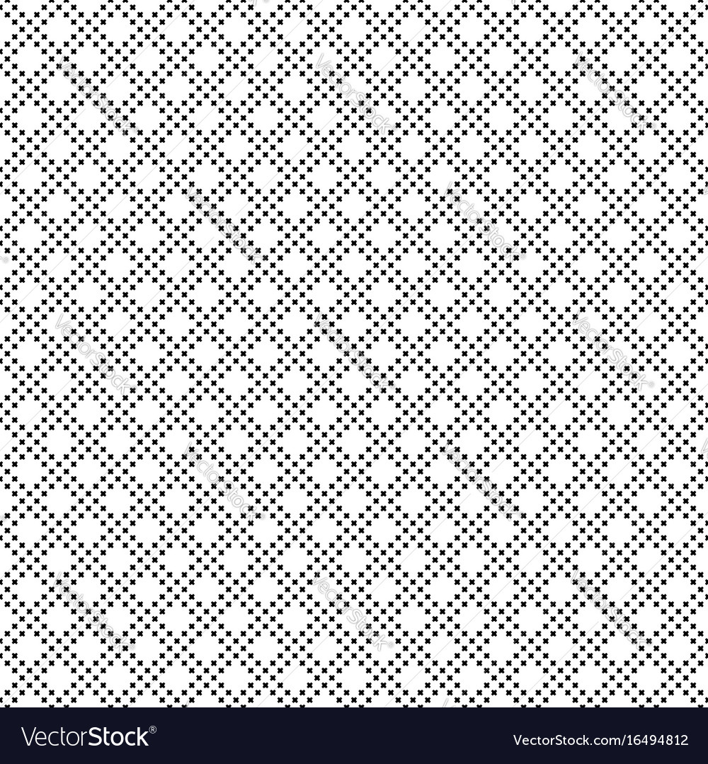 Seamless pattern small crosses
