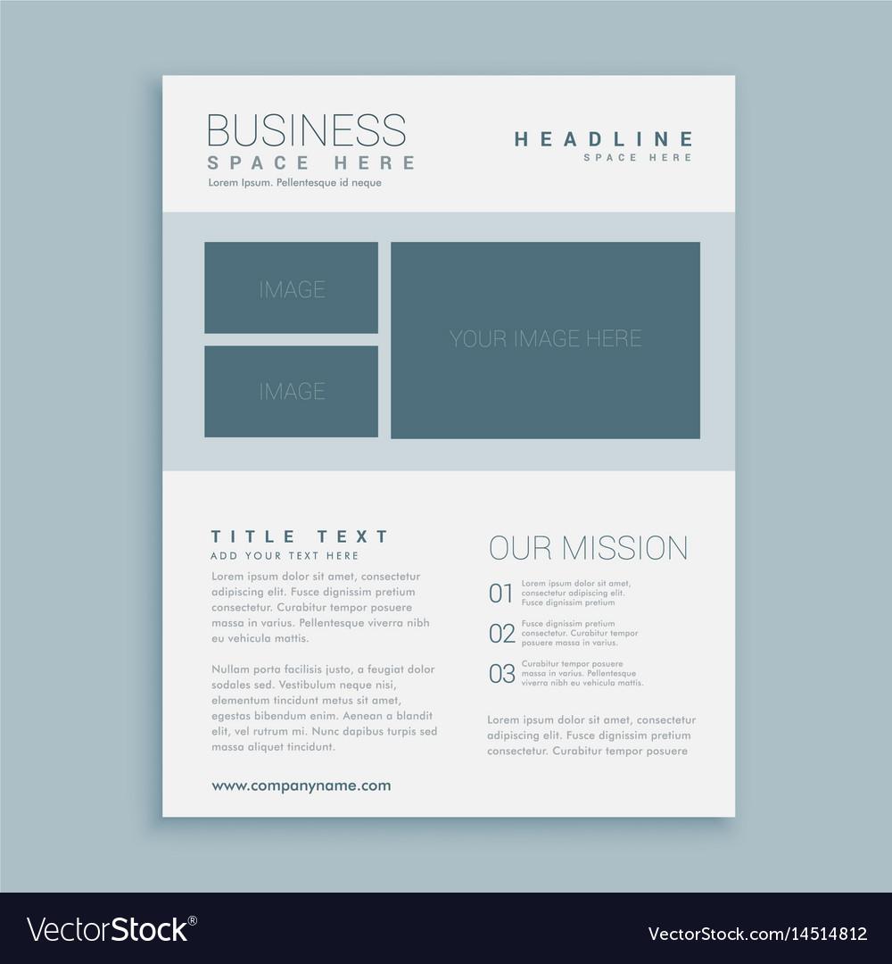 simple business brochure flyer design template vector image