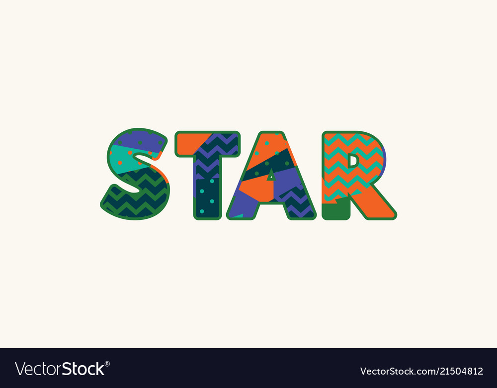 star concept word art royalty free vector image