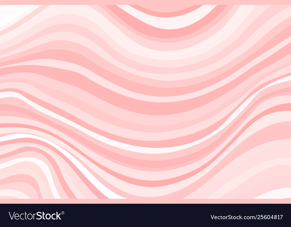 Abstract curved pink stripes