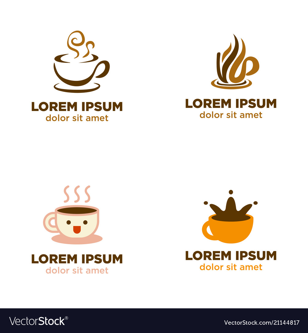 Coffee cup logo collection