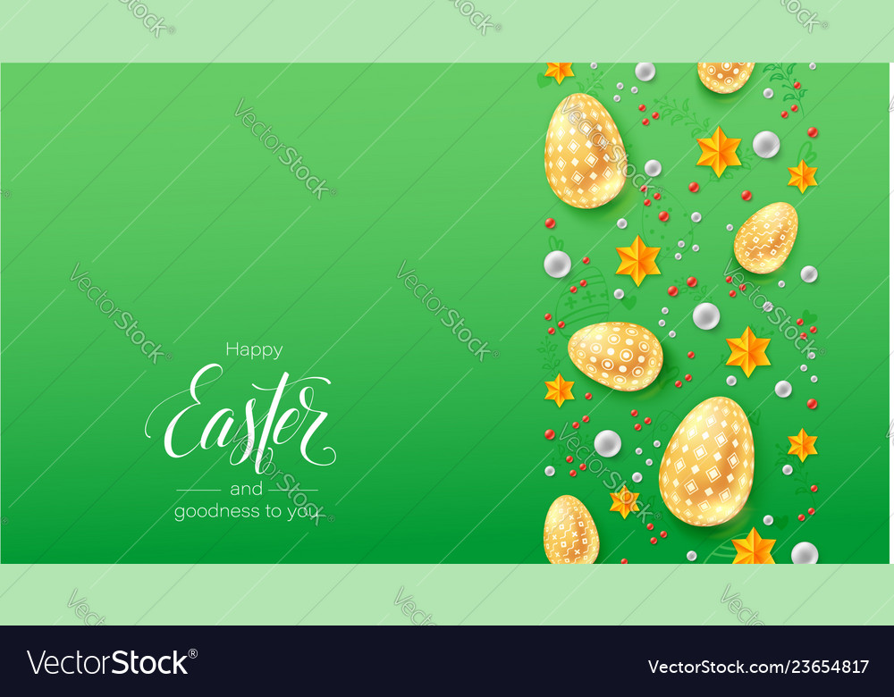 Happy easter greetings card calligraphic
