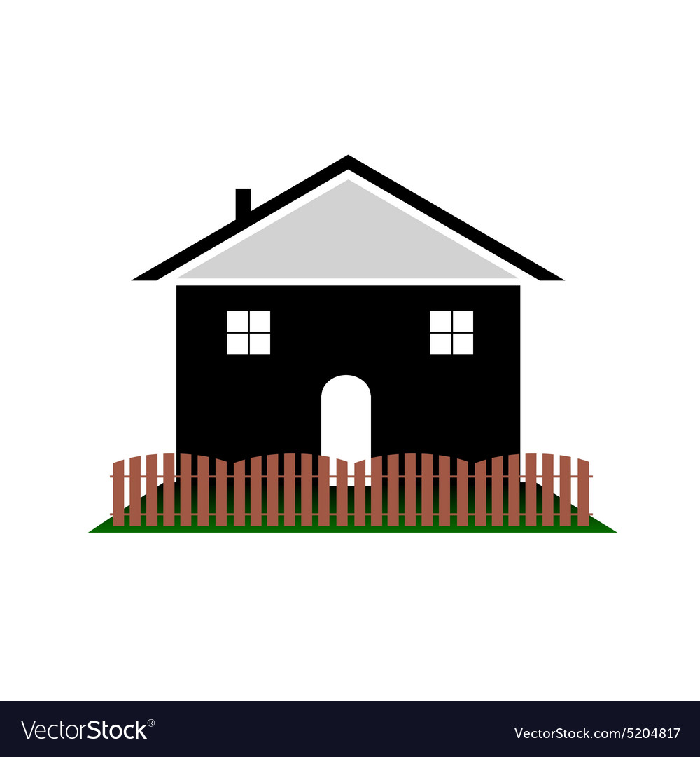 House with color art vector image