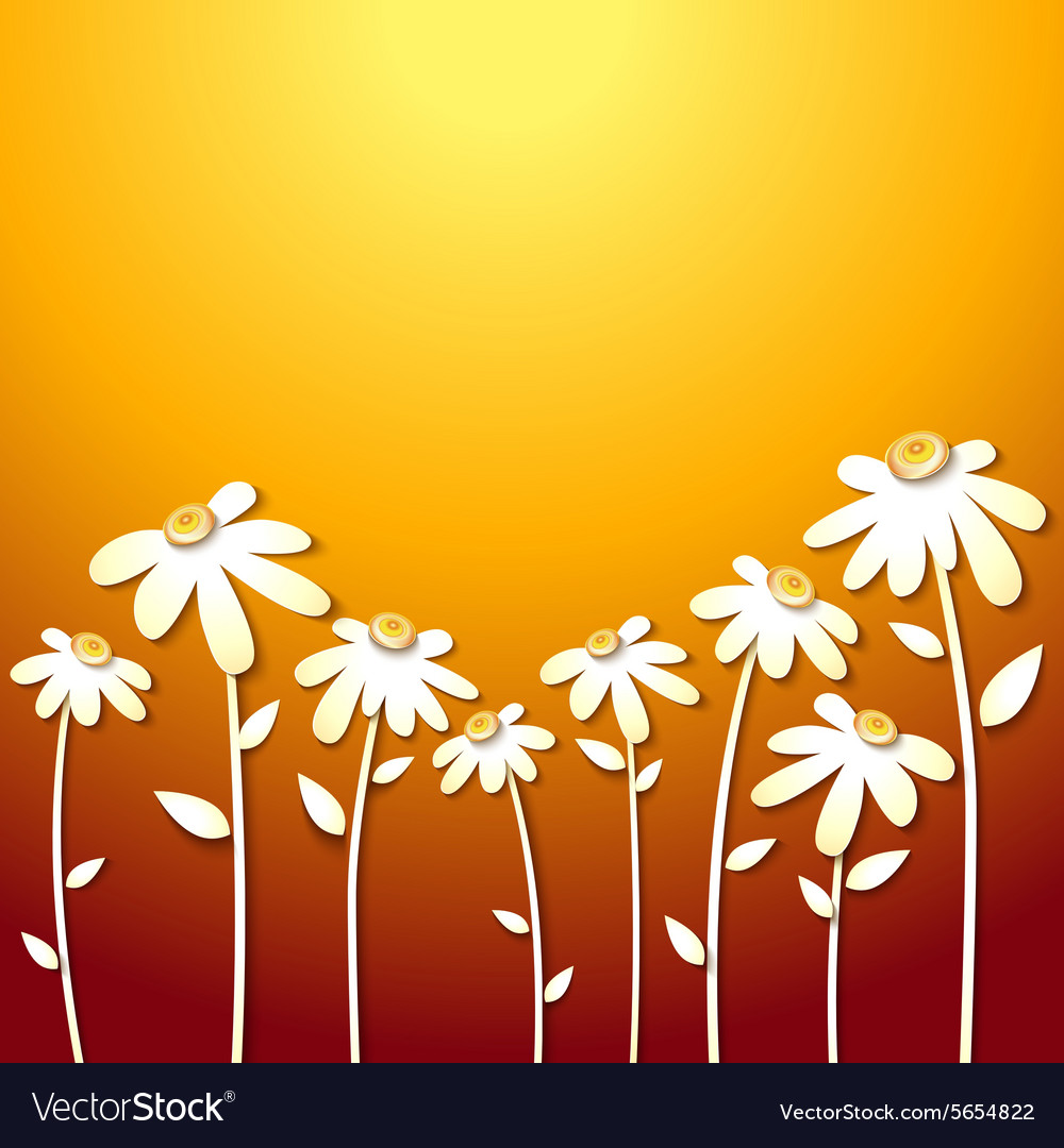Beautiful Autumn Flowers Royalty Free Vector Image