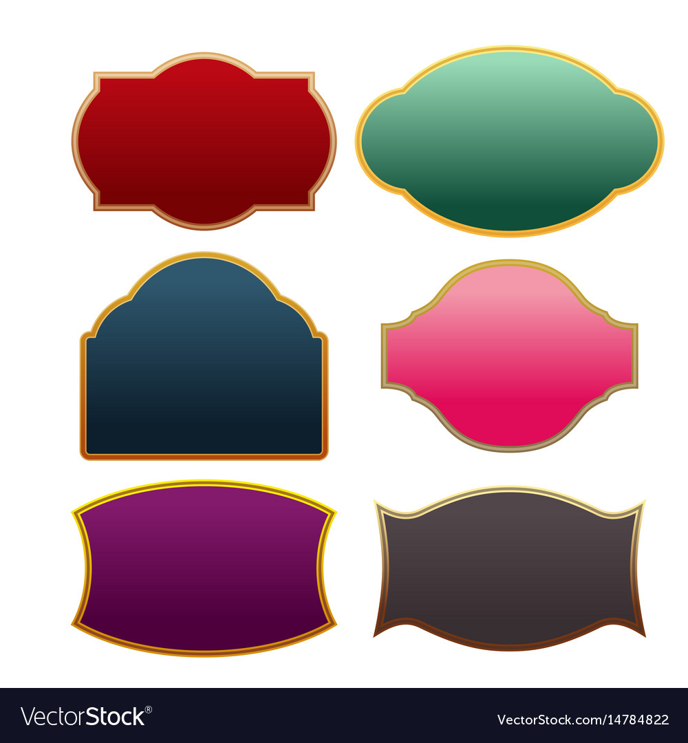 Border vintage classic collection set vector image