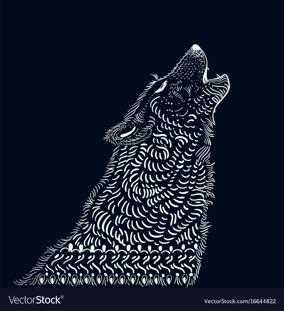 Doodle wolf