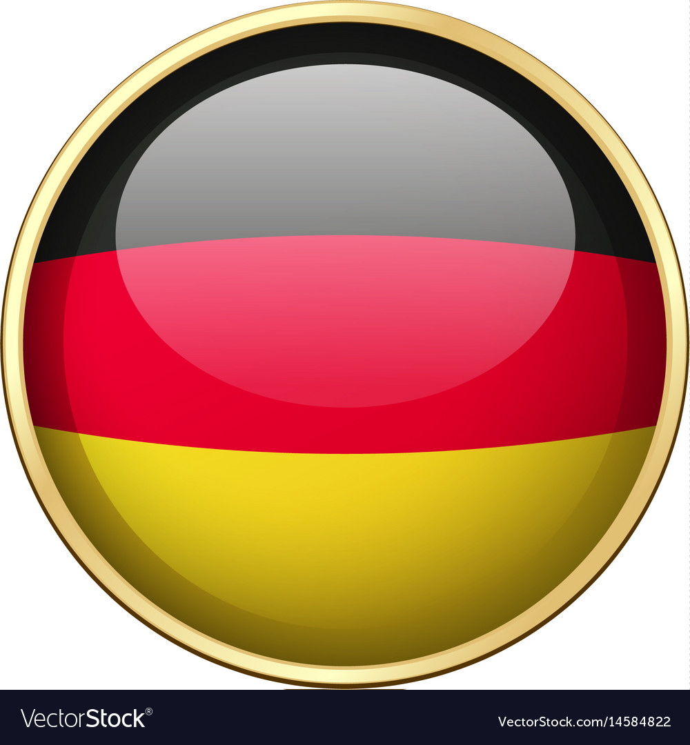 Germany flag on round badge