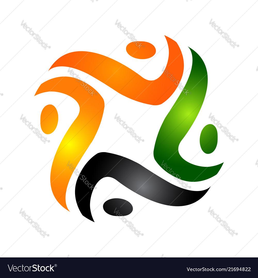 Human character logo concept abstract man figure