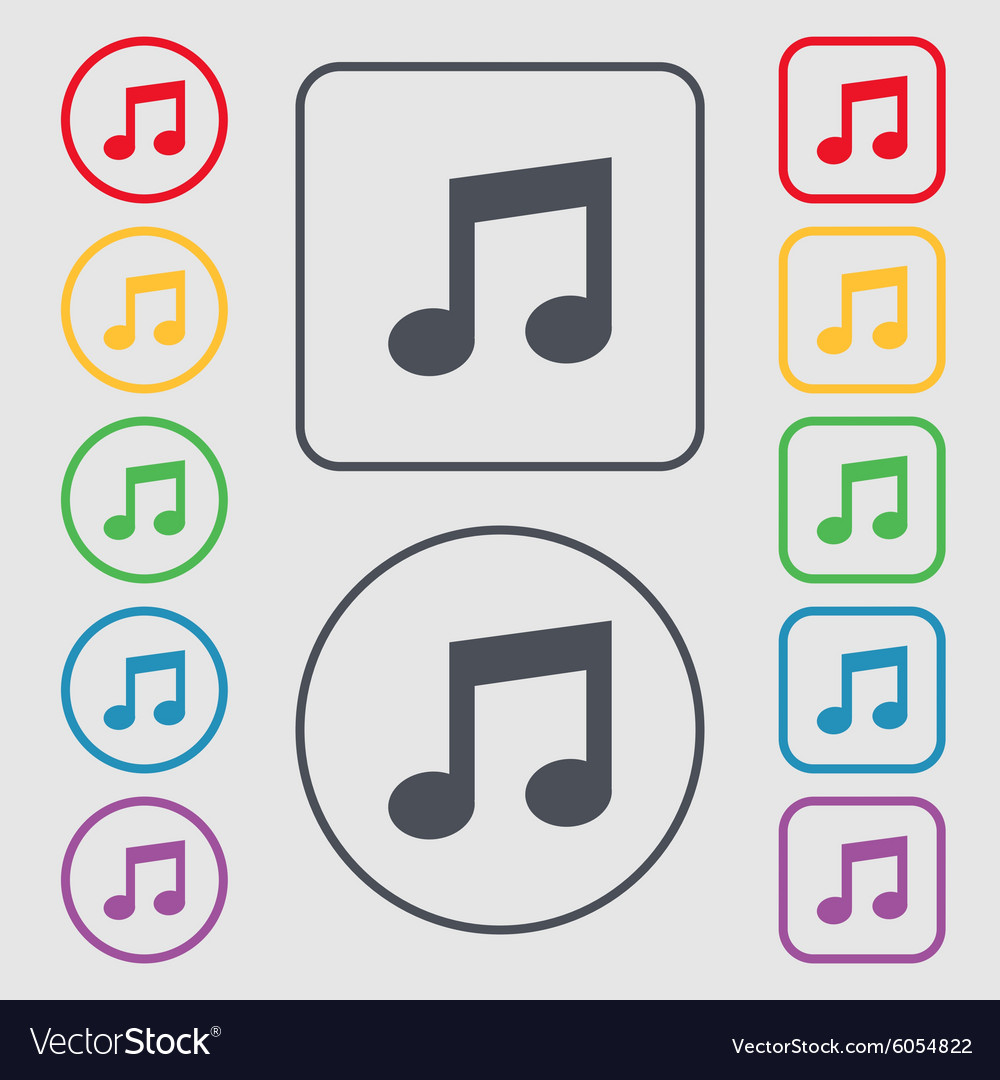 Music Note Sign Icon Musical Symbol Symbols On The