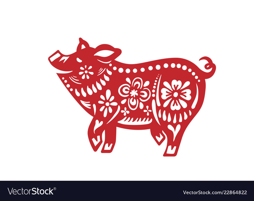 Pig for happy chinese new year celebration