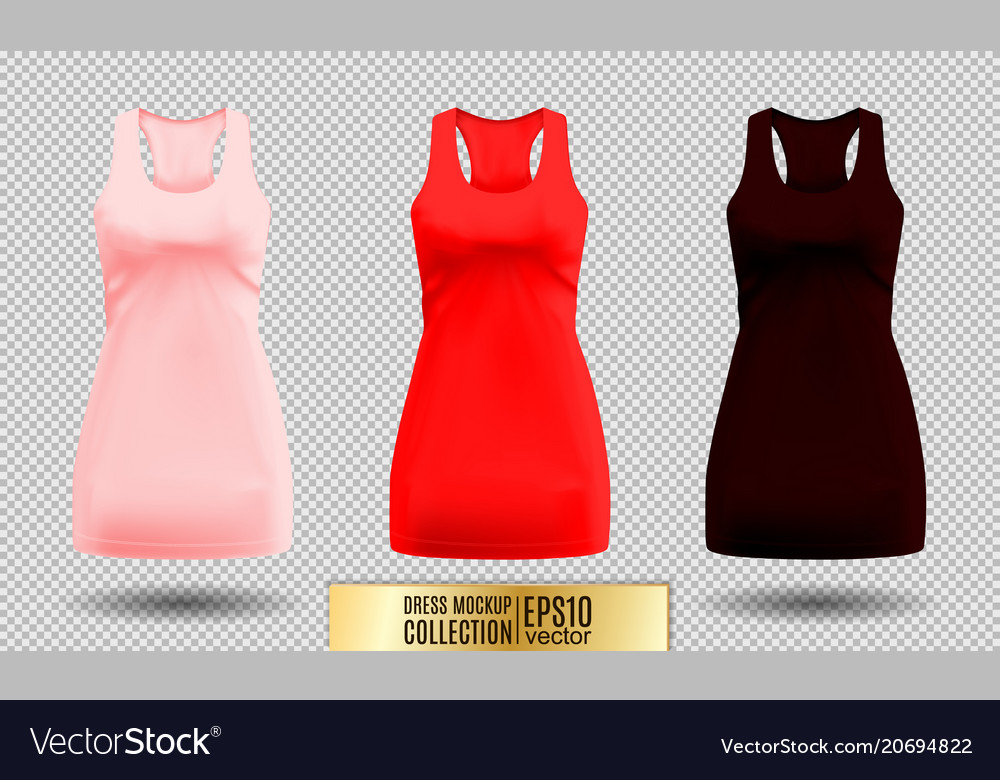 Realistic detailed 3d women dress mock up pink