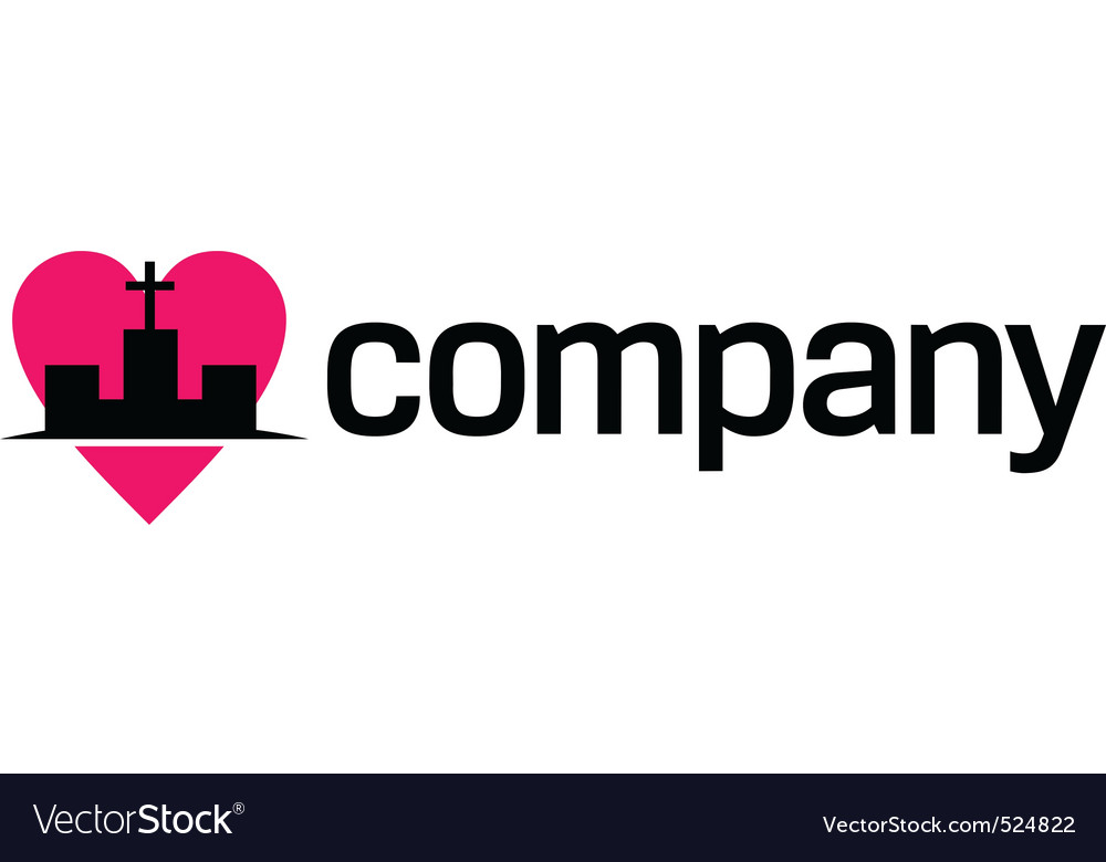 Religion love logo vector image