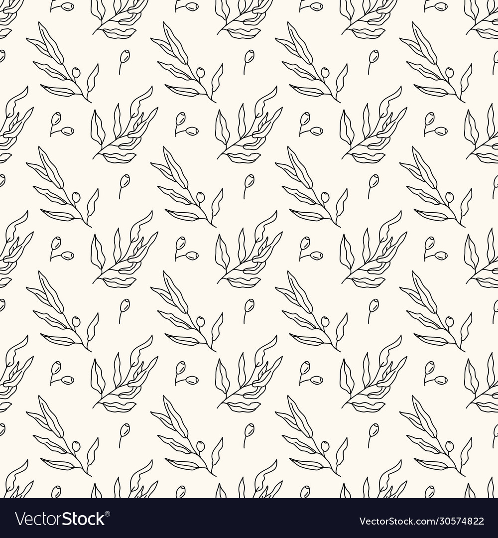 Seamless geometric pattern with olive tree