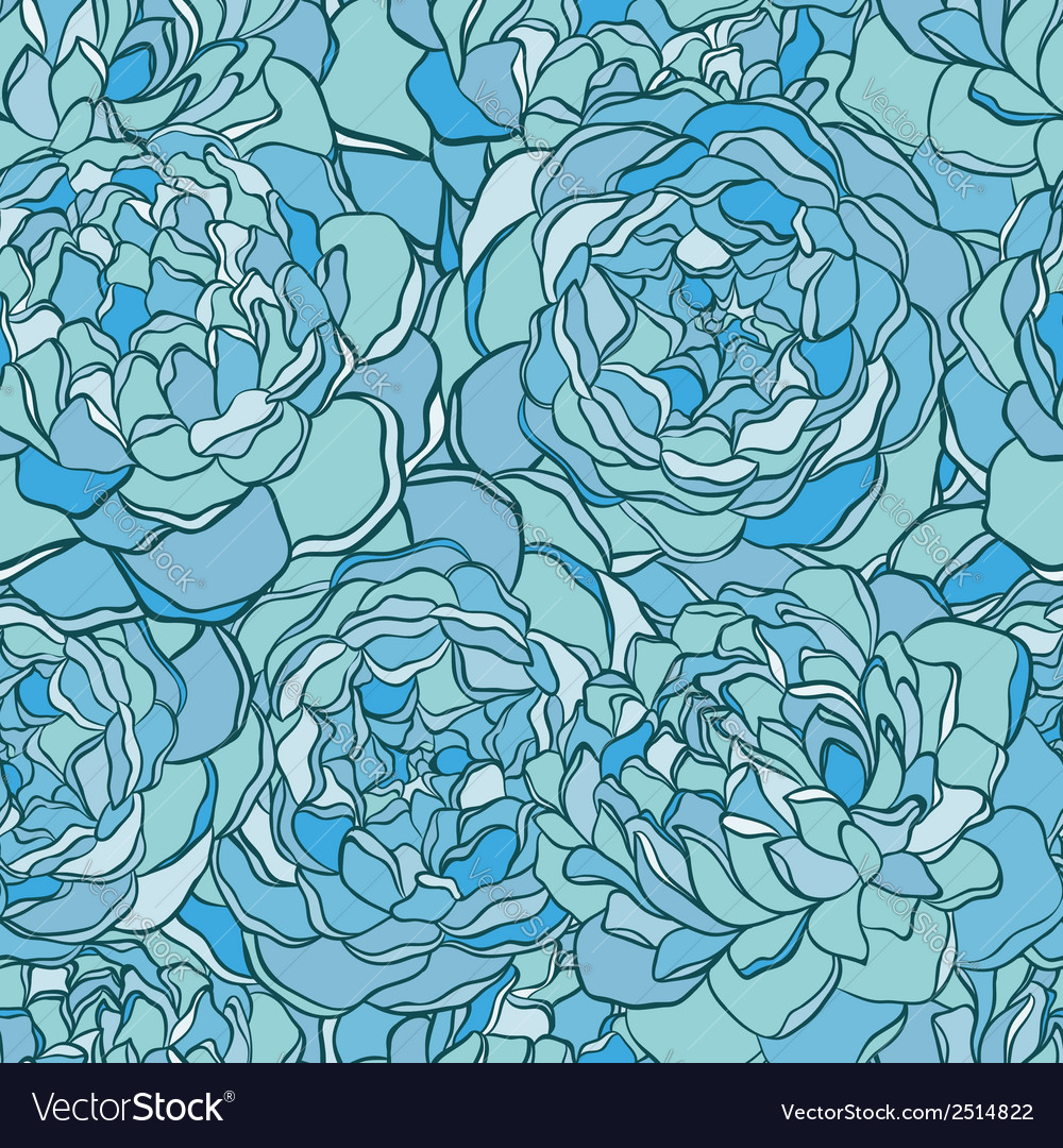 Seamless pattern with hand-drawn flowers vector image