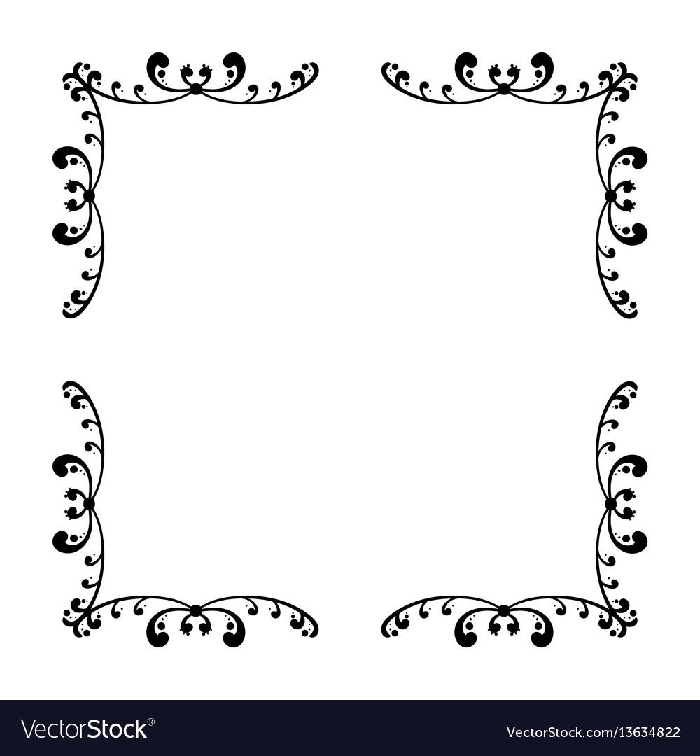 Simple frame design Basic Vectorstock Simple And Elegant Square Frame Design Template Vector Image