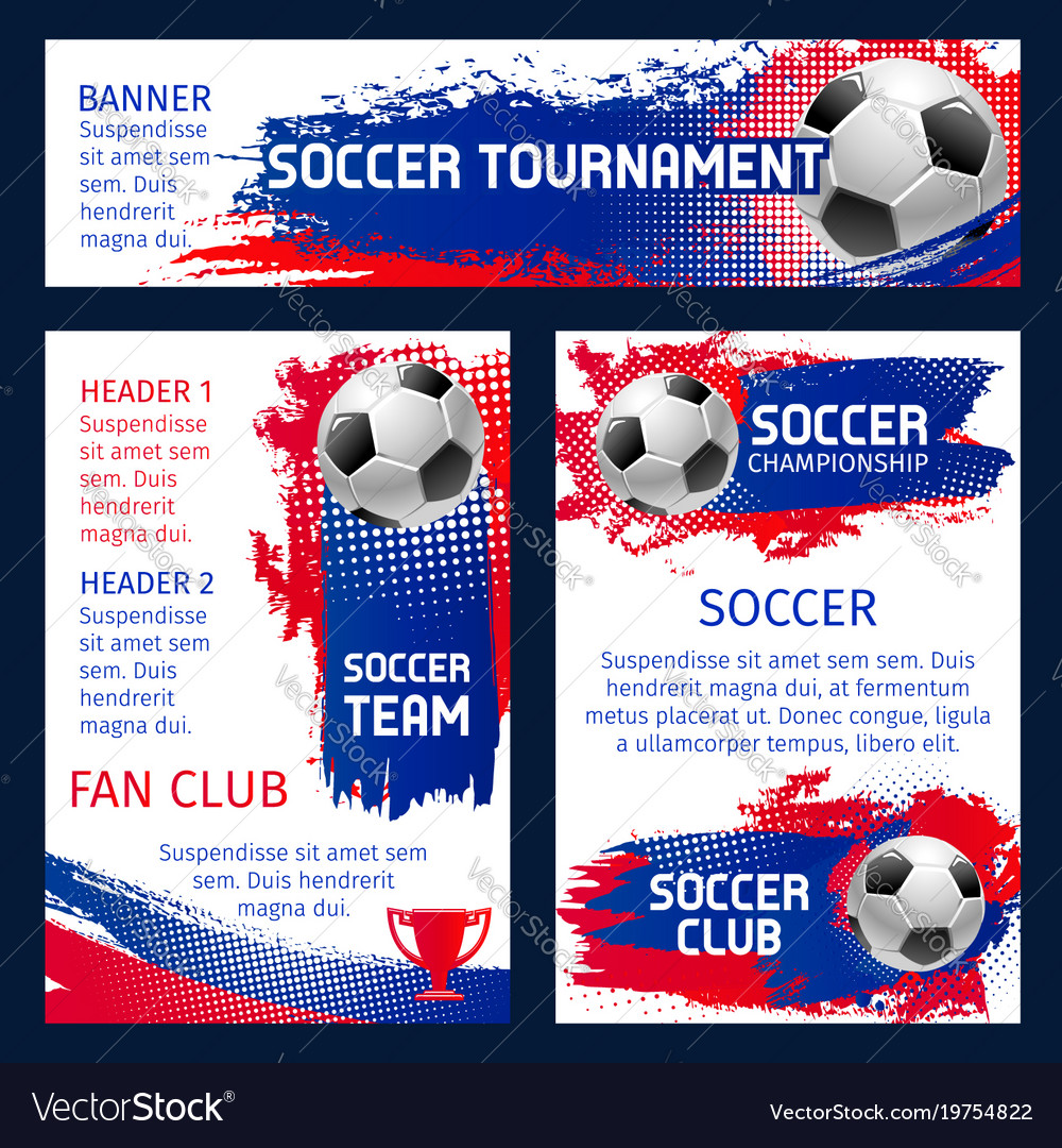 Soccer team football championship posters