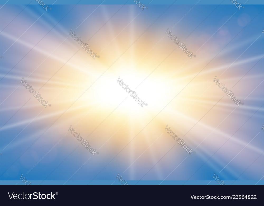 Sun rays starburst bright effect isolated on