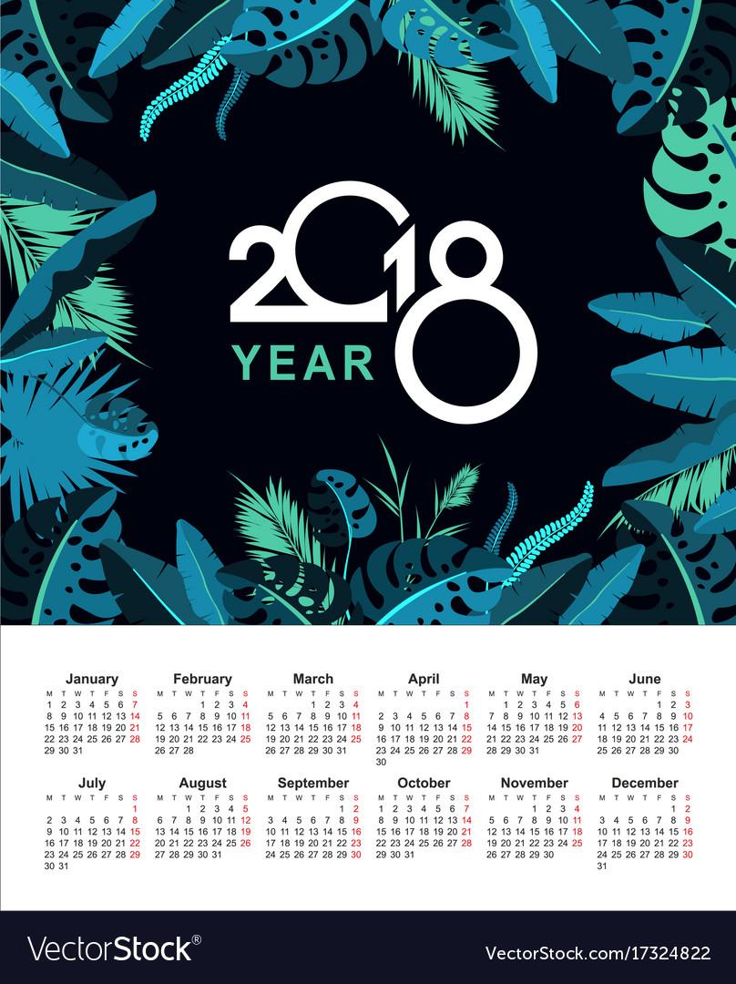 Tropical calendar 2018
