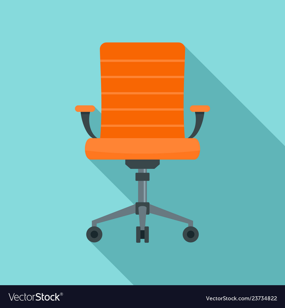 Wheel chair desk icon flat style