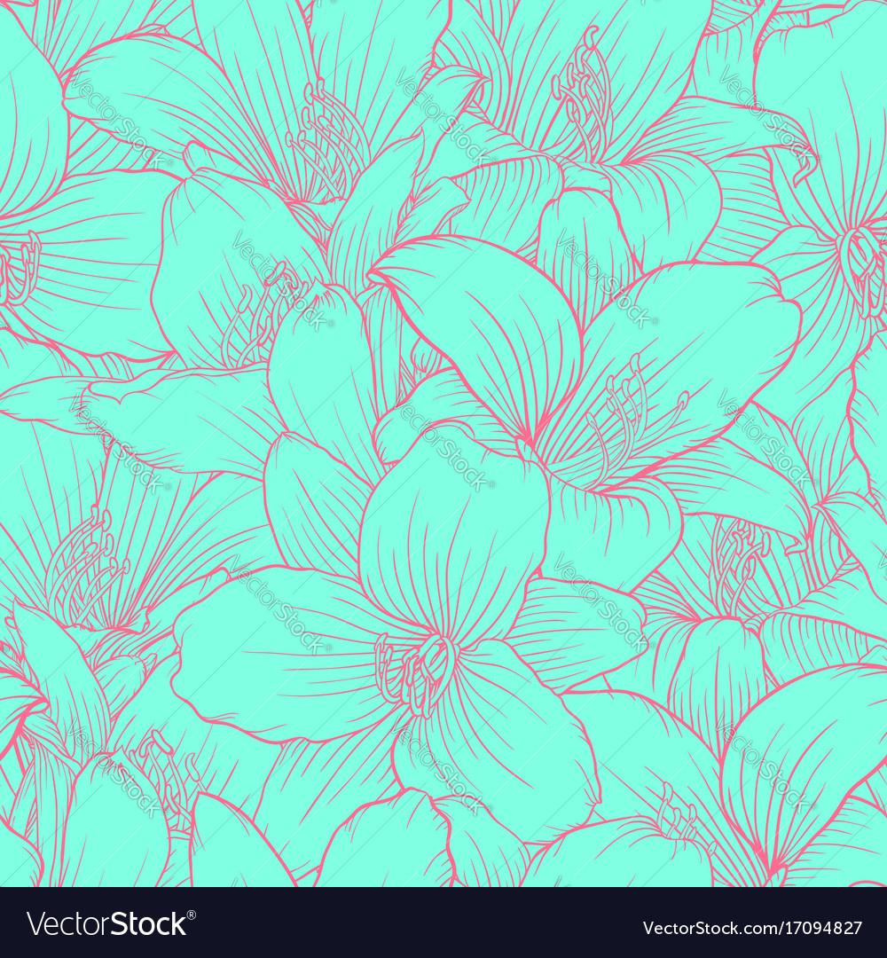 Beautiful monochrome blue and pink seamless