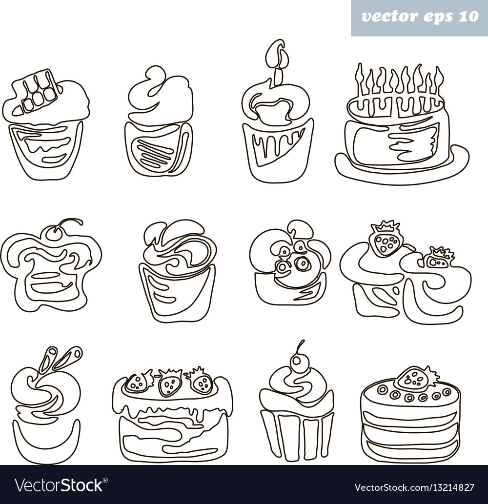 Cakes outlined