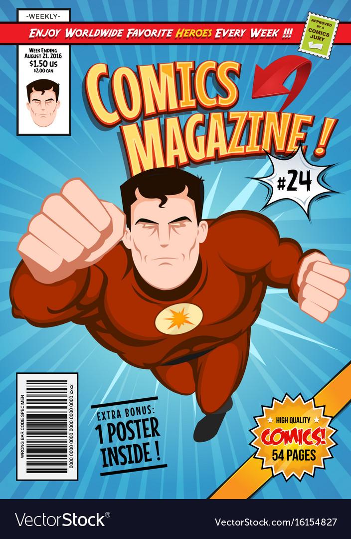 Book Cover Template Vol : Cartoon comic book ankaperla