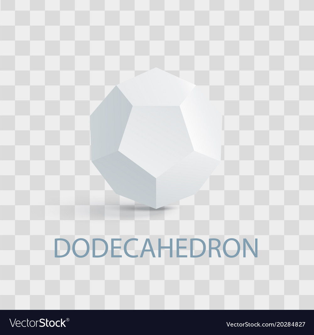 Dodecahedron complicated white geometric figure vector image