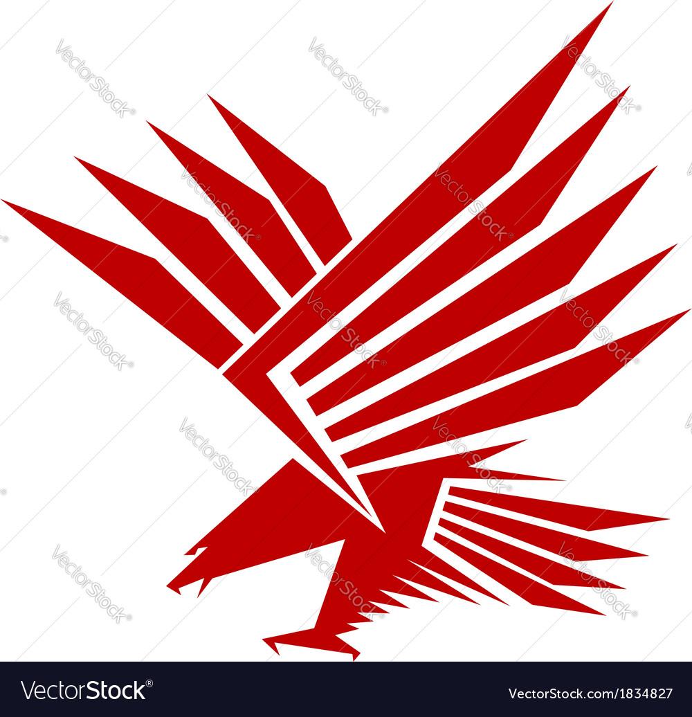 Falcon mascot vector image