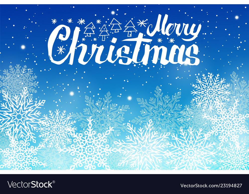 Merry christmas lettering white snowballs