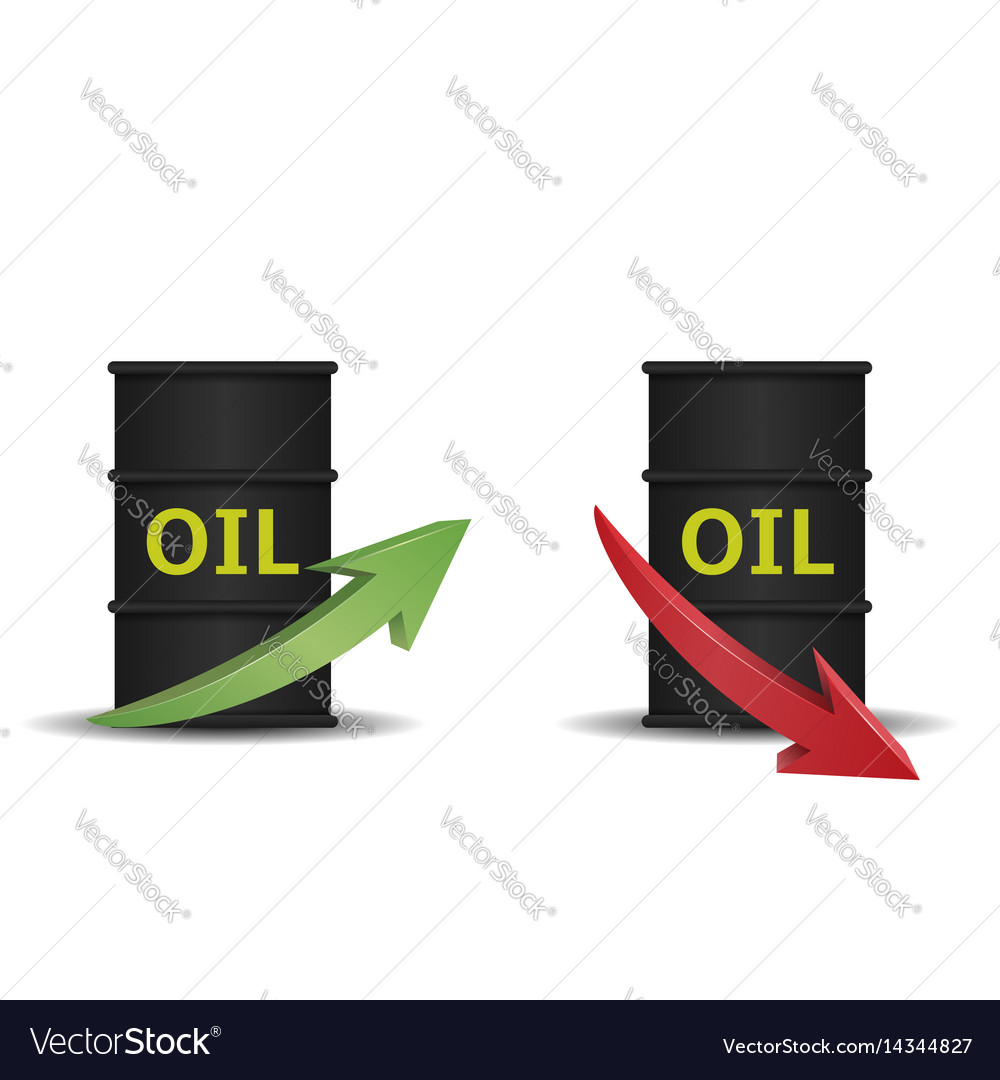 Oil barrel with arrow