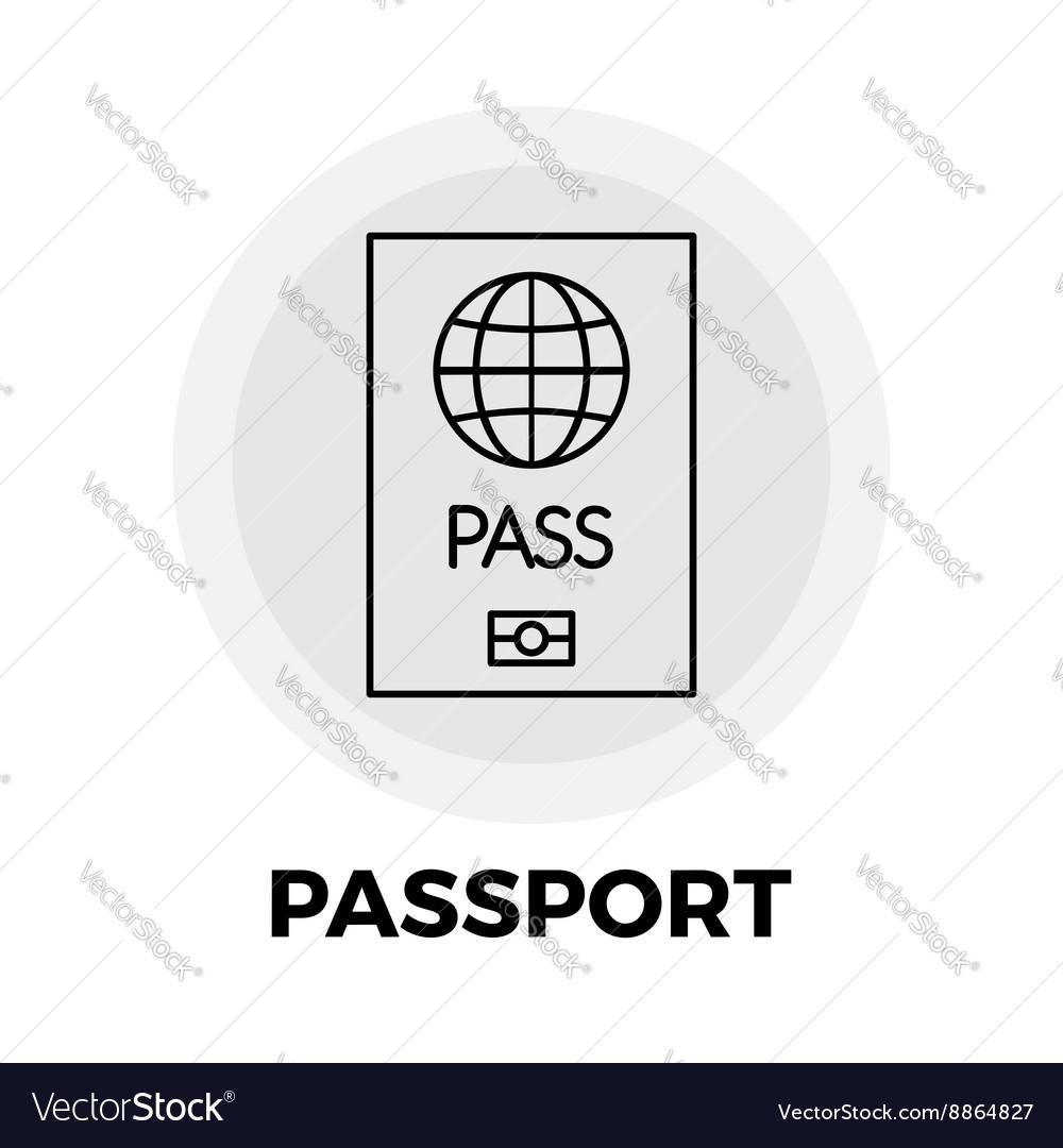 Passport Line Icon