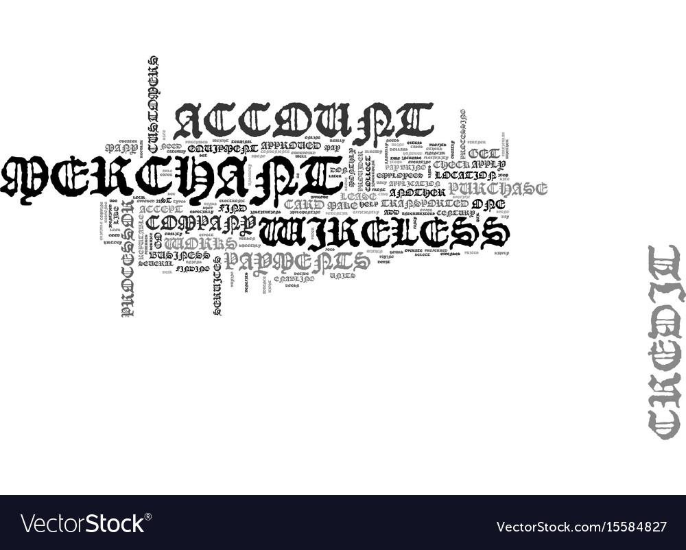 Wireless merchant account text word cloud concept