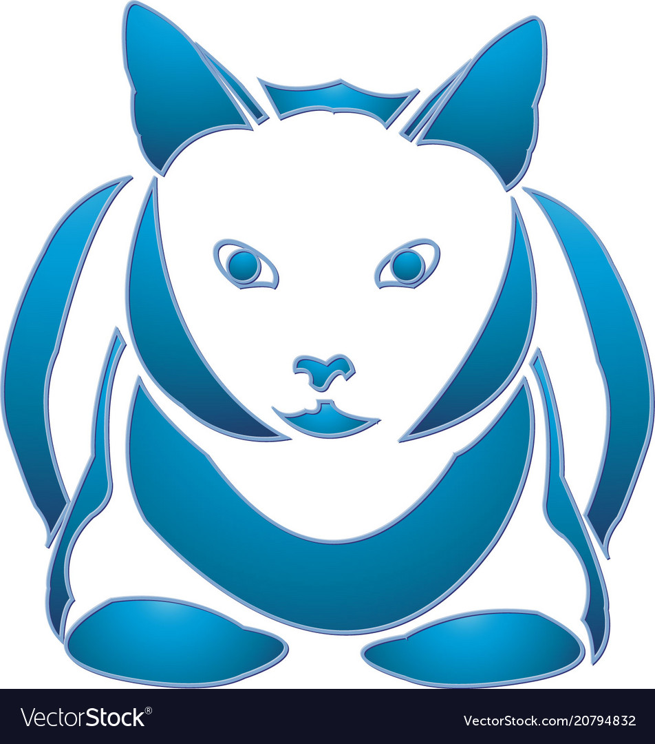 Blue cat vector image