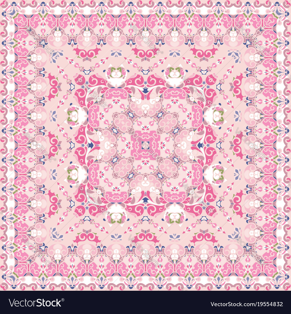 Bright pink colored handkerchief vector image