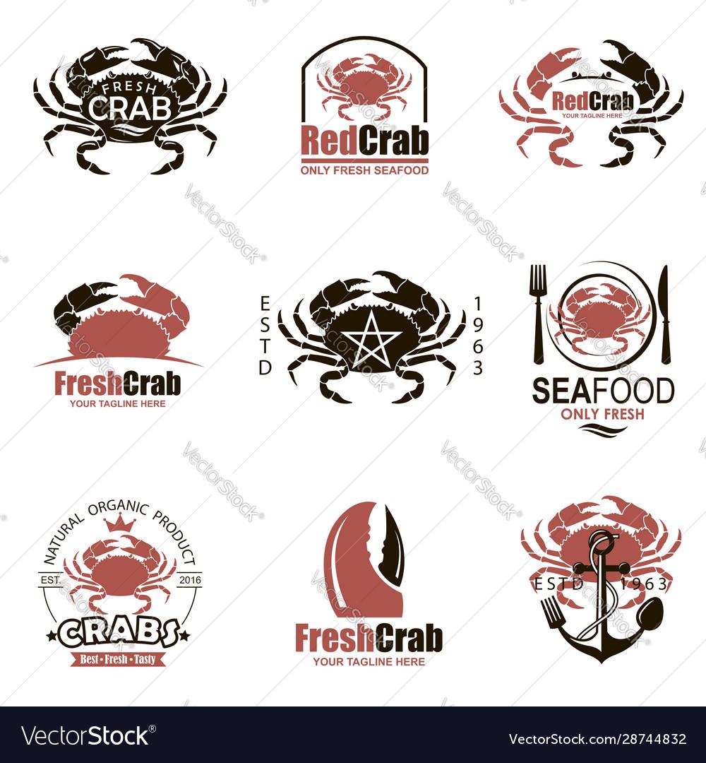 Crab emblem set